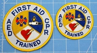 4 inch patch on the left and our standard 3 inch patch on the right
