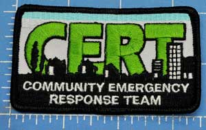 Embroidered Patch - Small Detailed CERT Patch 2 x 3 -1/2 - SSPAT-23
