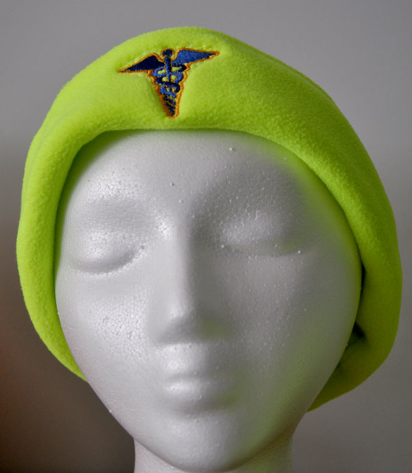 Fleece cap with cad