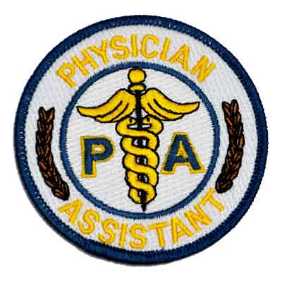 Physician Assistant Embroidered Patch for PA
