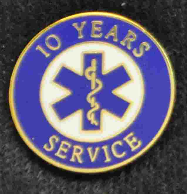 10 Year EMS Years of Service Pin #SS-EMS-10