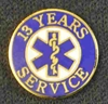 13 Year EMS Service Pin
