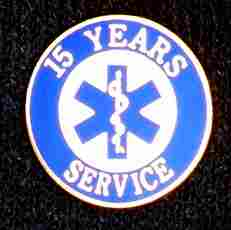 15 Year EMS Service Pin