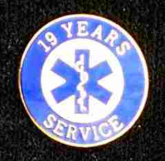19 Year EMS Service Pin
