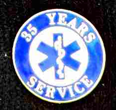 35 Year EMS Service Pin