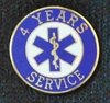 4 Year EMS Service Pin
