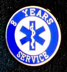 8 Year EMS Service Pin