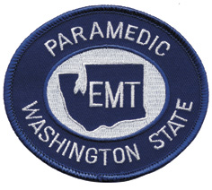Washington State Paramedic Patch White on Navy