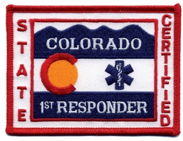 Colorado First Responder Patch