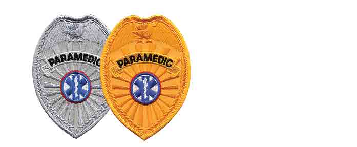 PARAMEDIC Badge Patch Gold