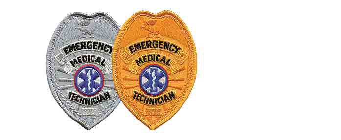 EMT Badge Patch Gold