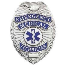 Emergency Medical Technician Shield Badge Choose Gold or Nickel