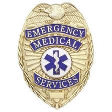 Emergency Medical Services Shield Badge Choose Gold or Nickel