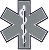"Reflective Star of Life 7"" with Navy Blue Outline"