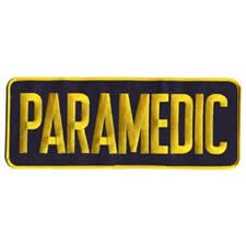 PARAMEDIC Back Patch Gold/Navy