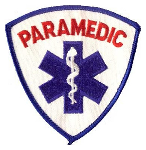 PARAMEDIC Shield Patch Ble and Red