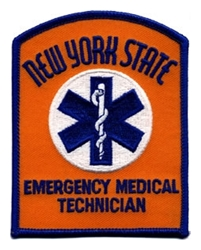 New York EMT Patch - Orange