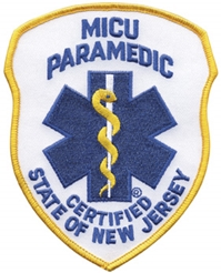 New Jersey MICU Paramedic Patch Royal on White