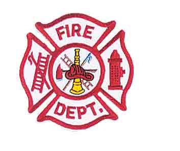 "Fire Dept Scramble Patch 3 1/2"" x 3-1/2"""