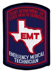 Texas EMT Patch - Color