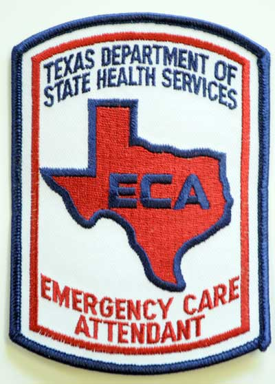 Texas Emergency Care Attendant Patch - Color