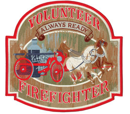 Old-Time Volunteer Firefighter Pack Patch