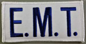 EMT Chest Emblem Royal/White