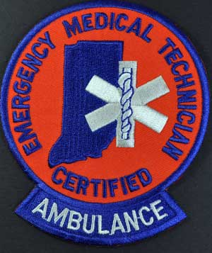 Indiana EMT Ambulance Patch Indiana EMT patch,