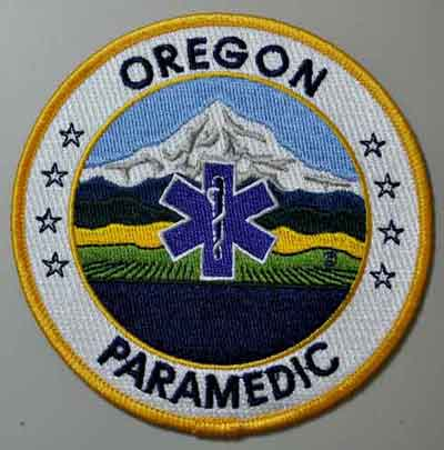 Oregon Paramedic Patch OR Paramedic patch, Oregon Paramedic patch, EMT-P, uniform patch,