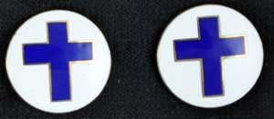 Chaplain Cross Round Emblem Pins chaplain pin, chaplain