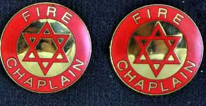 Fire Chaplain Pin Star of David, Pair fire chaplain, chaplain, fire uniform, fire emblem, Star of David