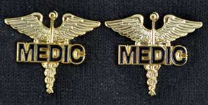 MEDIC on Caduceus Pin - Pair medic pin, paramedic pin, paramedic pin on caduceus, uniform, medical officer,