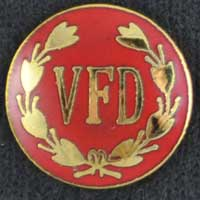 VFD Fire Emblem Pin volunteer fire department, vdf, fire uniform, fire emblem, fire dept.