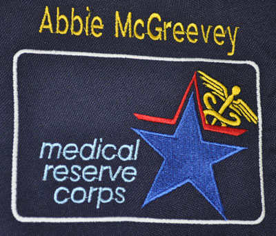 Medical Reserve Corps logo on our computer briefcase