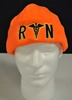 fleece beanie for RNs in Orange