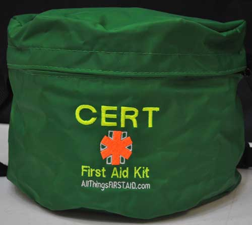 CERT Member First Aid Kit CERT First Aid Pack, group medical, First aid kits, boy scouts, girl scouts, outdoor activities, emergency first aid kit