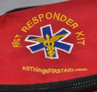 our first aid kits are easy to identify