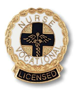 Licensed Vocational Nurse Emblem pin