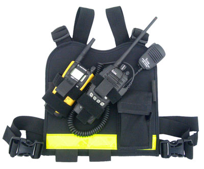Dual Radio Chest Harness Dual Radio, Chest Harness, amateur radio, ham, races, radio holster, radio chest harness, dual holster
