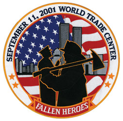 9/11 Fallen Heroes 12 inch Back patch