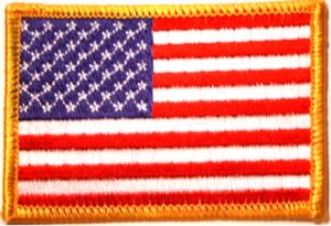 USA Flag Embroidered Patch