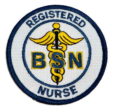 BSN Registered Nurse Embroidered Patch