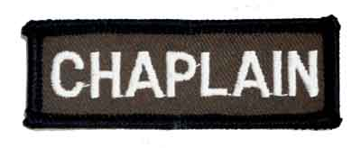 Chaplain Chest Bar embroidered patch in brown