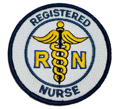 RN Registered Nurse Embroidered Patch