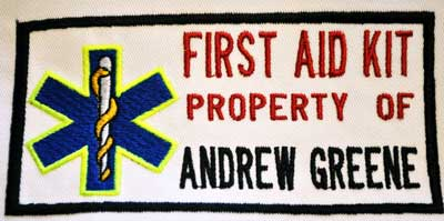 First Aid Kit Property of Patch