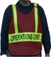 CMSpon5 Poncho Style IC Vest with reflective bars - PON5