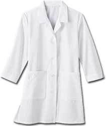 Womens 3 Quarter Sleeve Labcoat womens labcoat, womens labcoat, 3/4 sleeve labcoat, lab coat