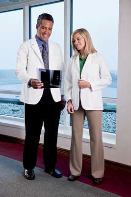 Mens Fundamentals Consultation Coat Lab coat, short jacket, mens coat, mens labcoat, white jacket, cheap labcoat, 15103, WS - 15103, WS- 15103