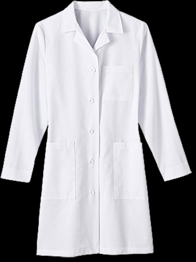 "Womens 37"" Five Pocket Labcoat womens labcoat, womans labcoat, woman, lab coat, medical student, lab student"