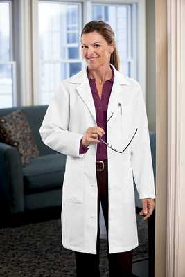 Womens 37 Inch Twill Labcoat famale labocat, ladies labcoat, womens labcoat, labcoats,